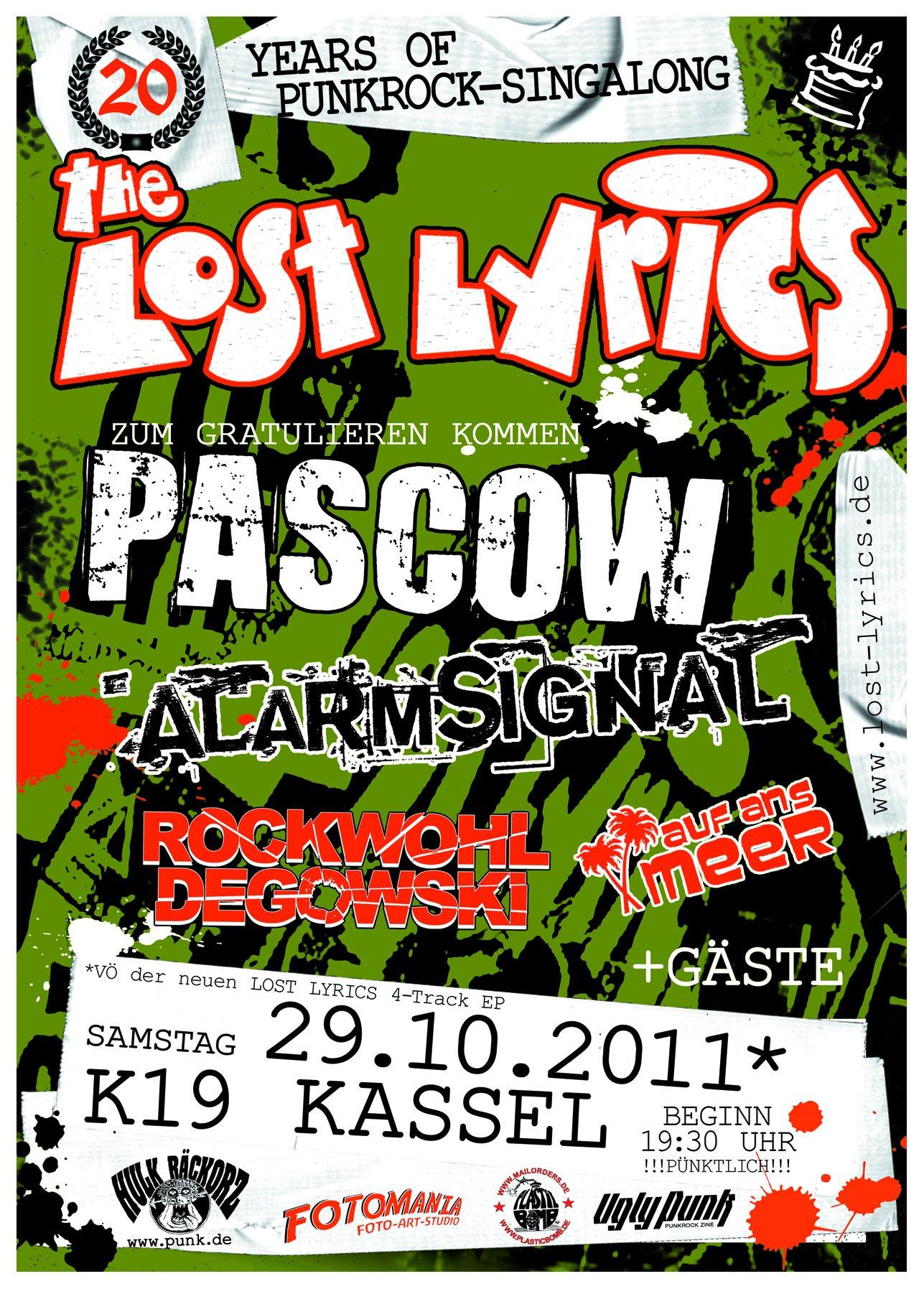 Flyer vom 29.10.2011