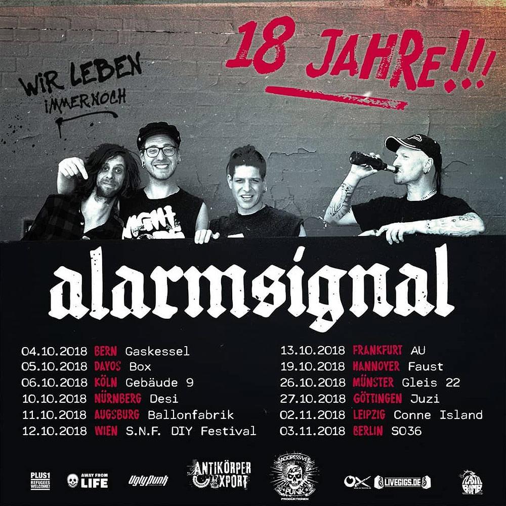 18 Jahre Alarmsignal + Tour