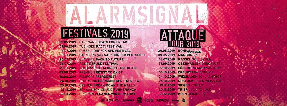 Alarmsignal Attaque-Tour und Festivals 2019