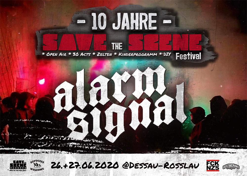 Alarmsignal beim 10 Jahre Save the Scene Festival