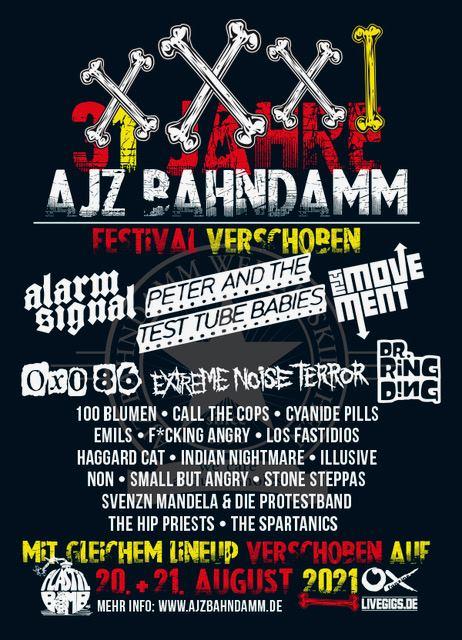Alarmsignal beim 31 Jahre AJZ Bahndamm Festival