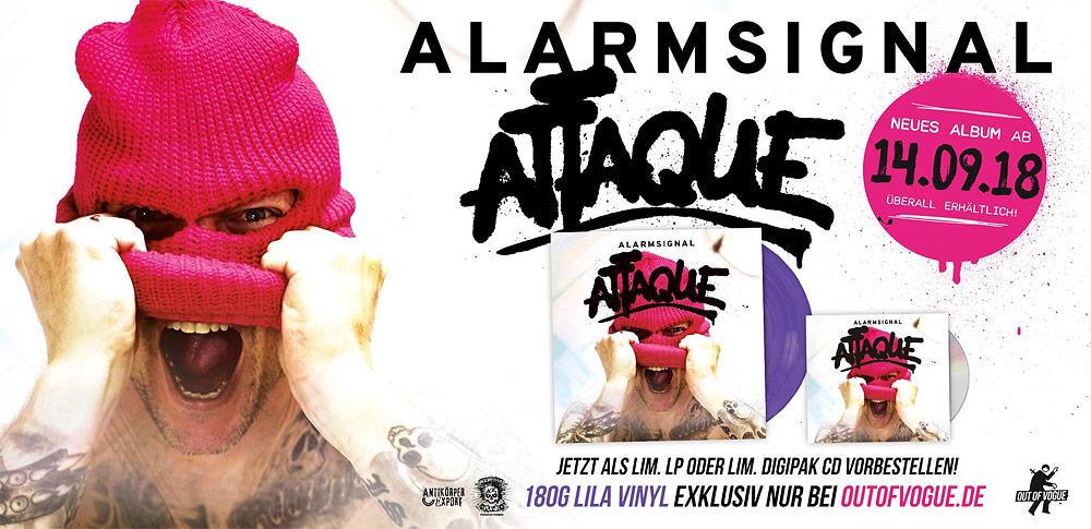 Attaque - Das neue Album von Alarmsignal vorbestellen