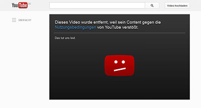 "YouTube sperrt Video zu ""Gefressen werden"""